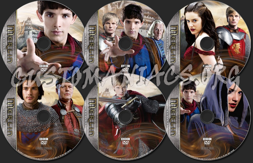 Merlin - TV Collection Series One dvd label