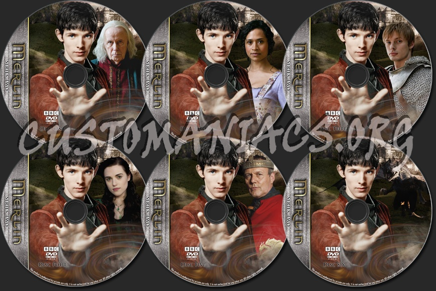 Merlin - TV Collection Series Two dvd label