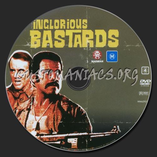 Inglorious Bastards 1978 dvd label