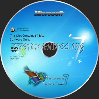 Windows 7 dvd label