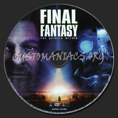 Final Fantasy - The Spirits Within dvd label