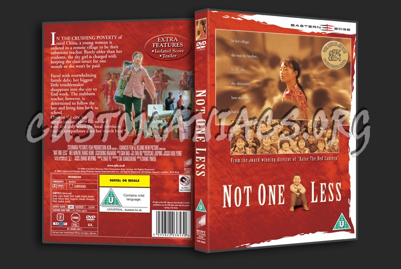 Not One Less dvd cover
