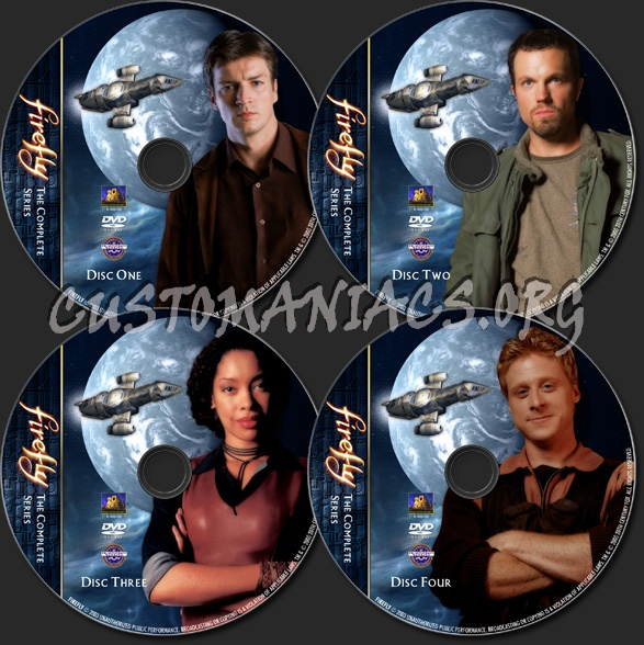 Firefly (Mk2) - TV Collection dvd label