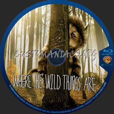 Where the Wild Things Are blu-ray label - DVD Covers ...