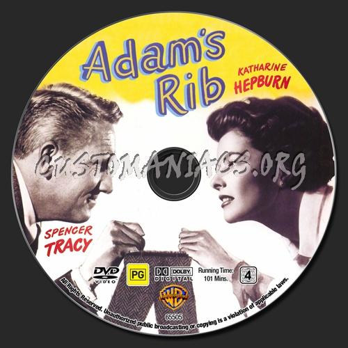 Adam's Rib dvd label