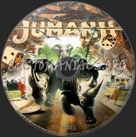 Jumanji dvd label