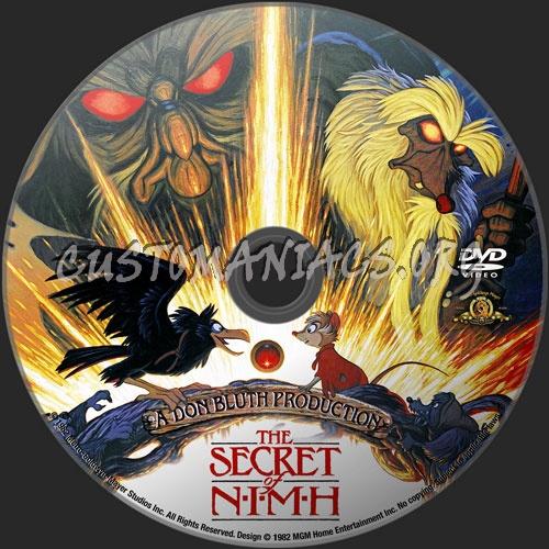 The Secret Of NIMH dvd label