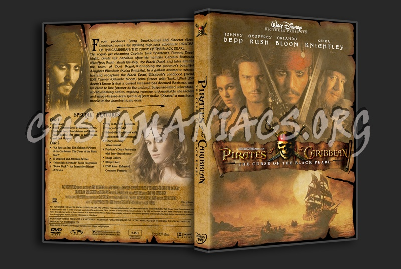 Pirates of The Caribbean - The Curse Of The Black Pearl dvd cover