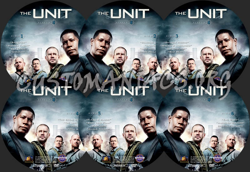 The Unit - Season 4 dvd label