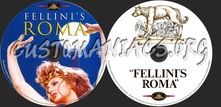 Fellini's Roma dvd label