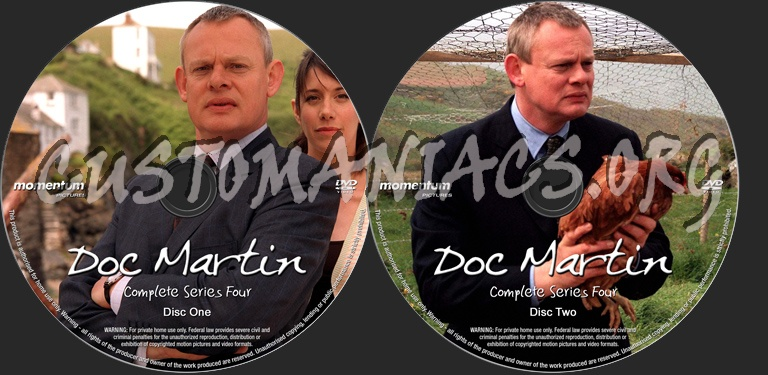 Doc Martin Series 4 dvd label