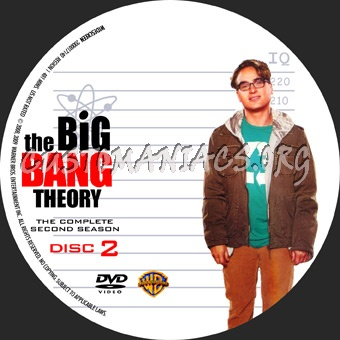 The Big Bang Theory Season 2 dvd label