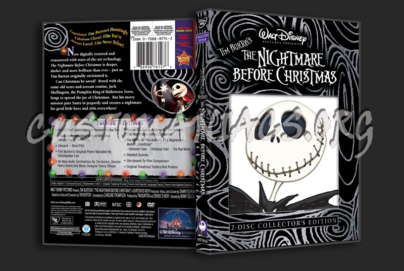 Tim Burton\'s The Nightmare Before Christmas dvd cover