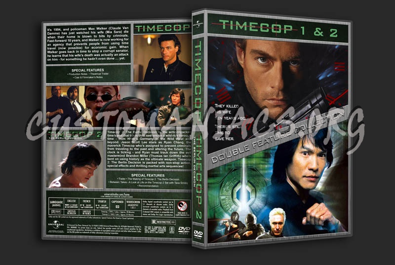 Timecop 1 & 2 Double Feature dvd cover