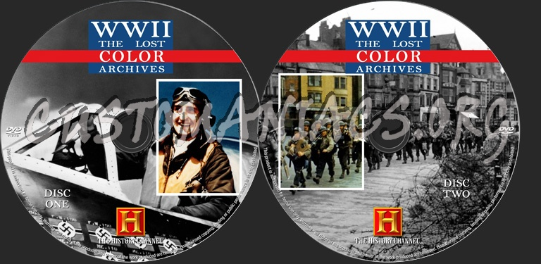 World War II - The Lost Color Archives dvd label - DVD