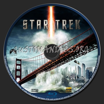 Star Trek 2009 blu-ray label