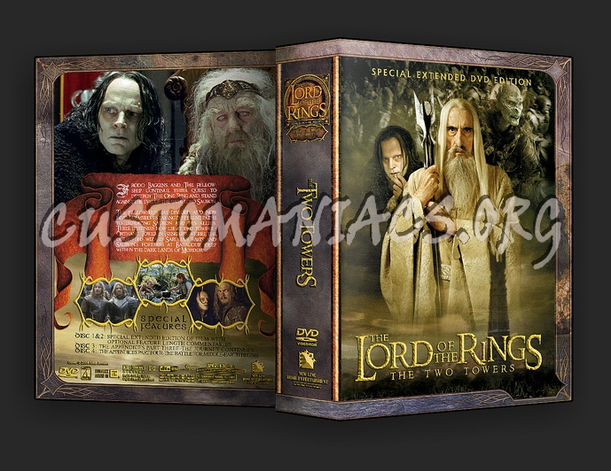 The Lord Of The Rings: The Two Towers Extended Edition dvd cover