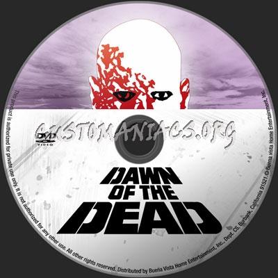 Dawn Of The Dead (1978) dvd label