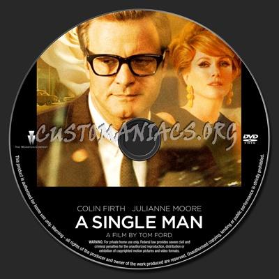 A Single Man dvd label