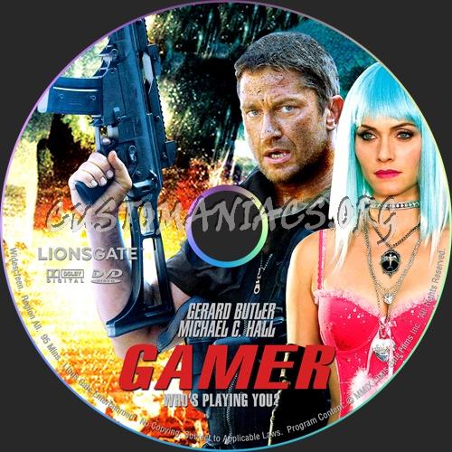 Gamer dvd label