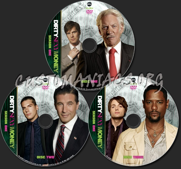 Dirty Sexy Money -Season One - TV Collection dvd label