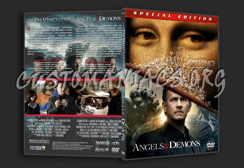 The Da Vinci Code Angels Demons Double Dvd Covers Labels By