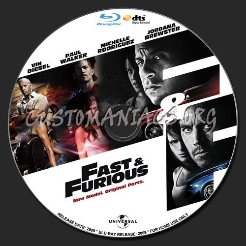 Fast & Furious blu-ray label