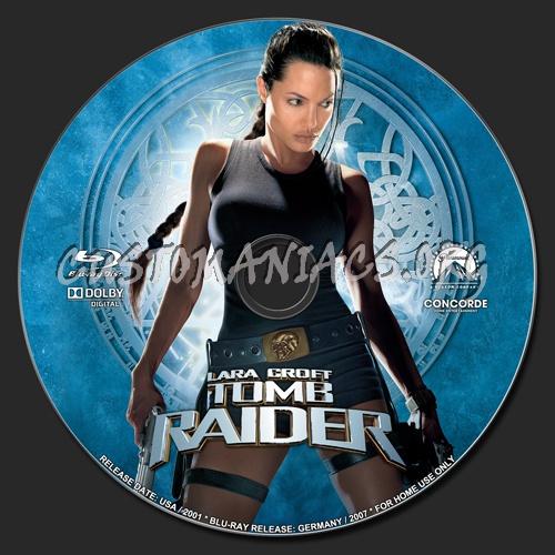 Lara Croft Tomb Raider blu-ray label