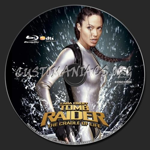 Lara Croft Tomb Raider The Cradle Of Life Blu Ray Label