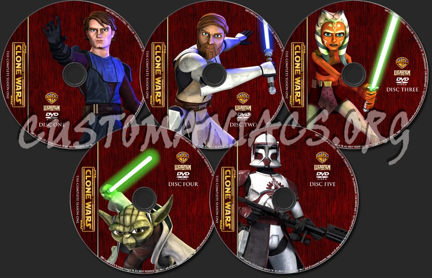Star Wars: The Clone Wars - Season 1 - TV Collection dvd label