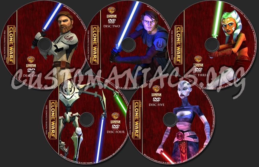 Star Wars: The Clone Wars - Season 2 - TV Collection dvd label