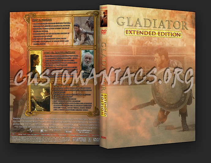 Gladiator Extended Edition dvd cover