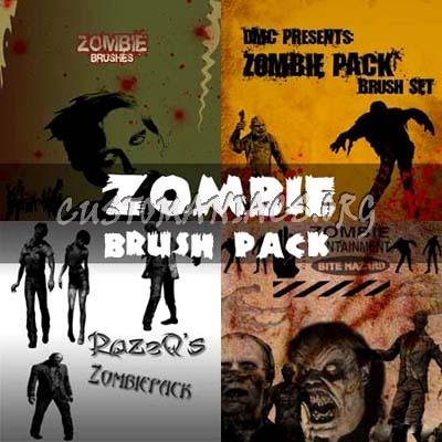 Zombie Photoshop Brushes Pack