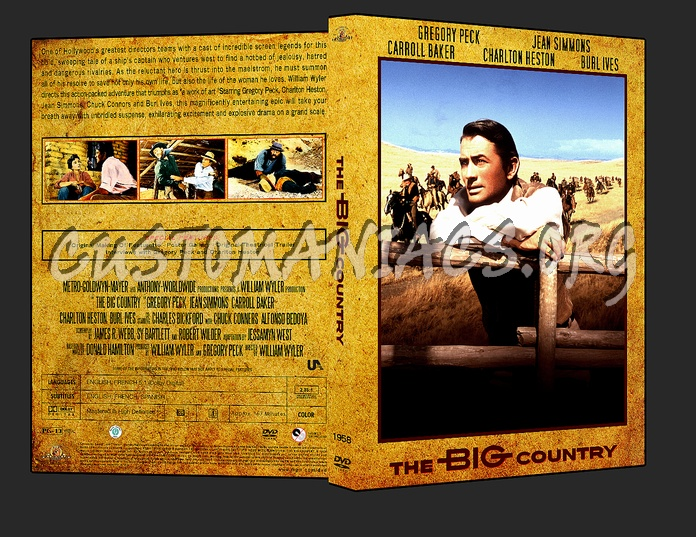 Western Collection The Big Country 1958 dvd cover - DVD ...
