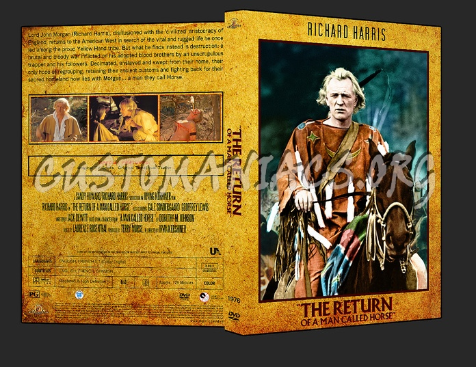 Western Collection The Return Of a Man Called Horse 1976 dvd cover