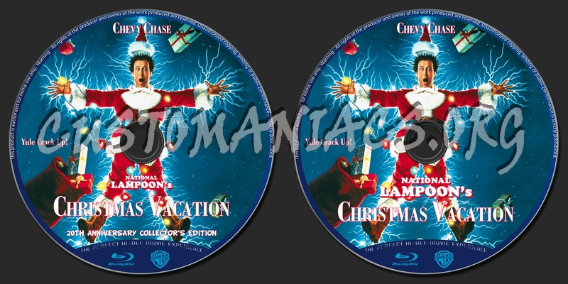 national lampoons christmas vacation blu ray label