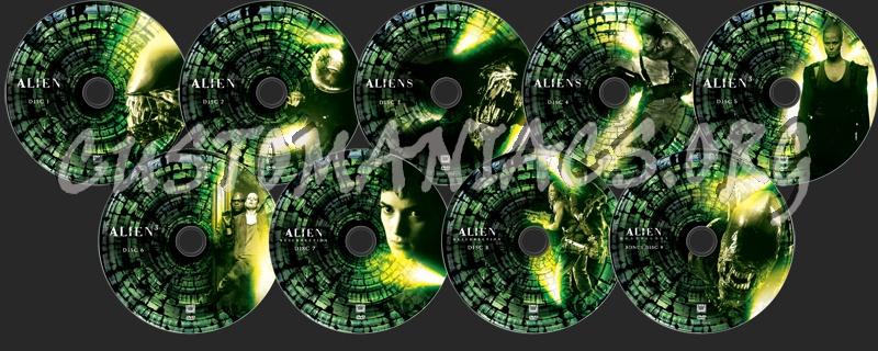 Alien Quadrilogy dvd label