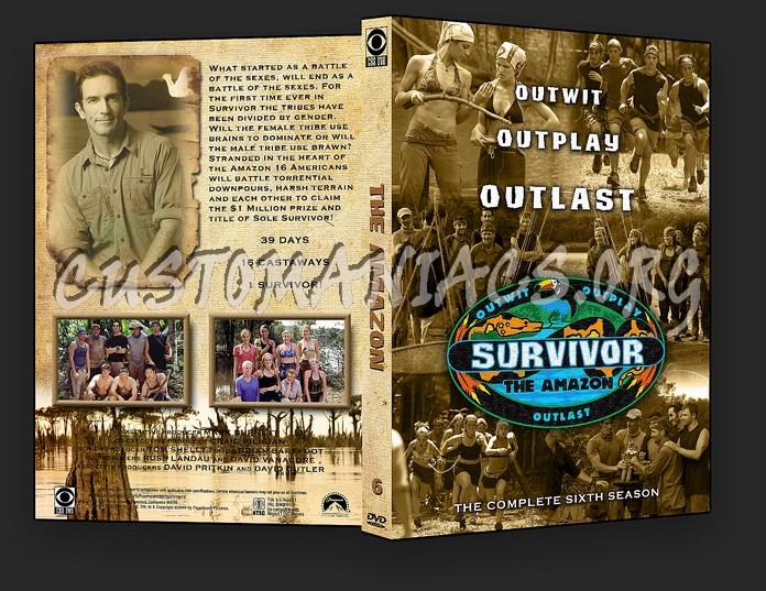 Survivor Amazon - Season 6 dvd cover