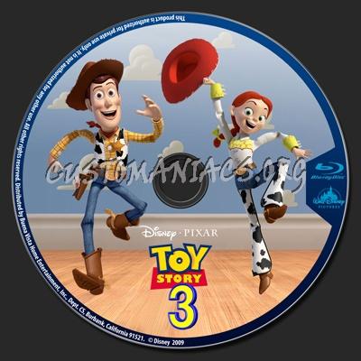 Toy Story 3 blu-ray label