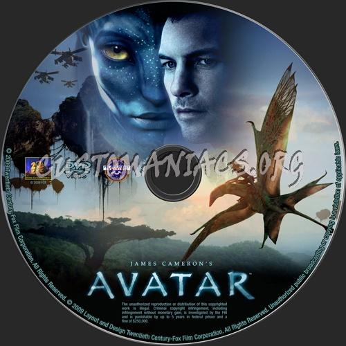 Avatar dvd label
