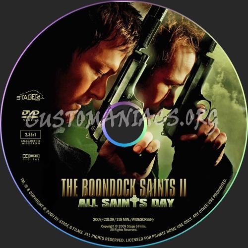 The Boondock Saints II: All Saints Day dvd label