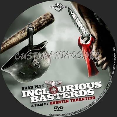 Inglourious Basterds dvd label
