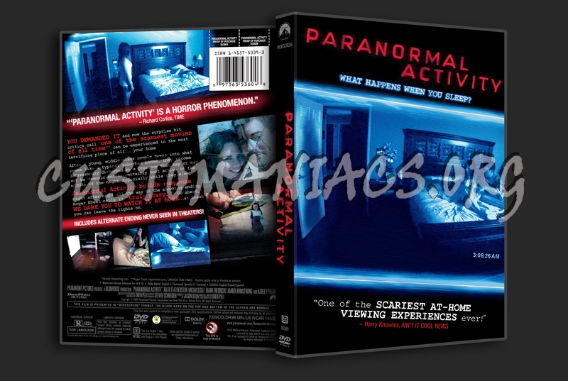 Paranormal Activity dvd cover