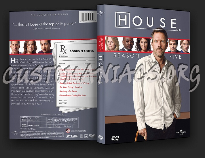 House Season 5 dvd cover