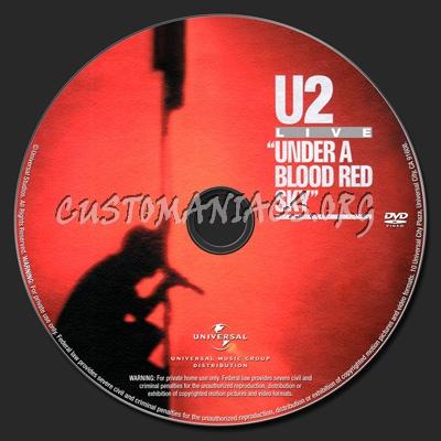 U2 Under A Blood Red Sky Live At Red Rocks Concert dvd label