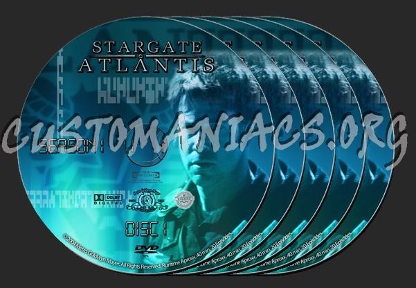 Stargate Atlantis Series 1 to 5 dvd label