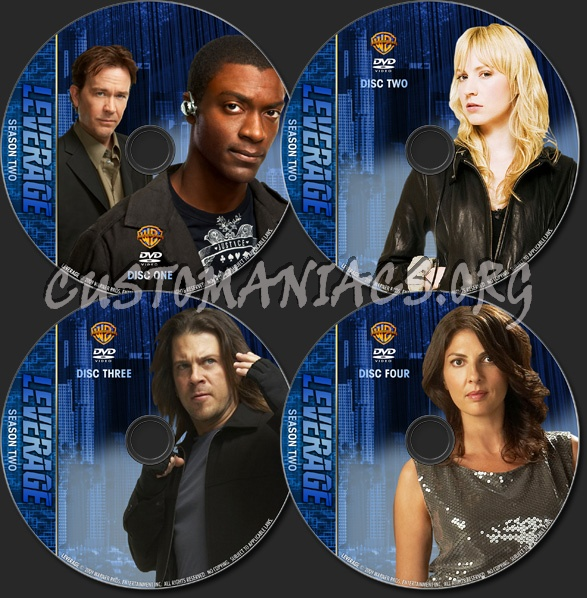 Leverage - TV Collection Season One and Two dvd label