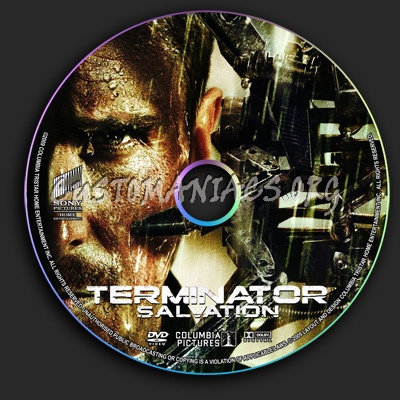 Terminator Salvation dvd label