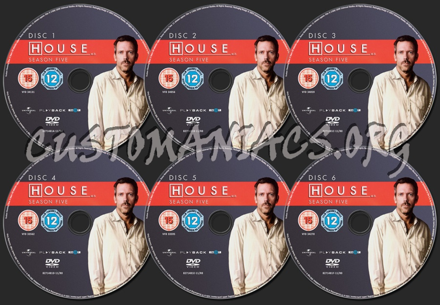 House Season 5 dvd label
