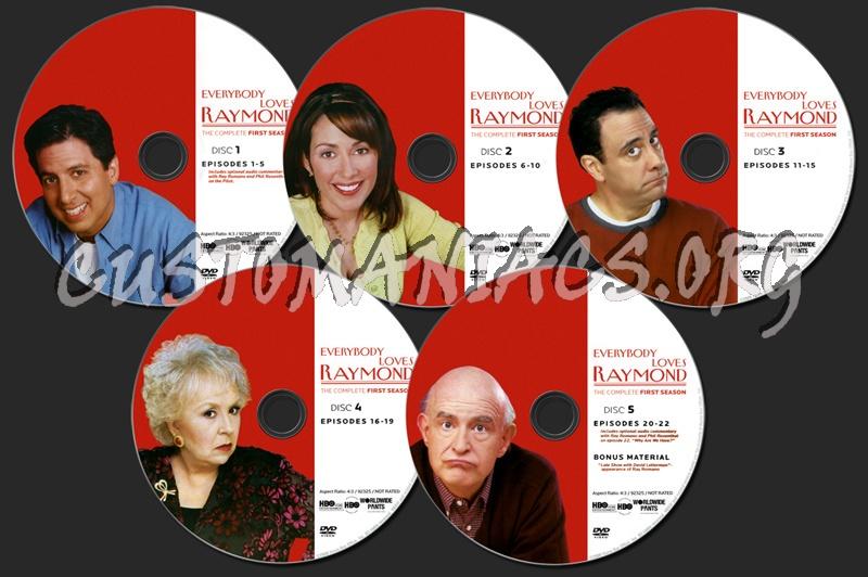 Everybody Loves Raymond Season 1 dvd label
